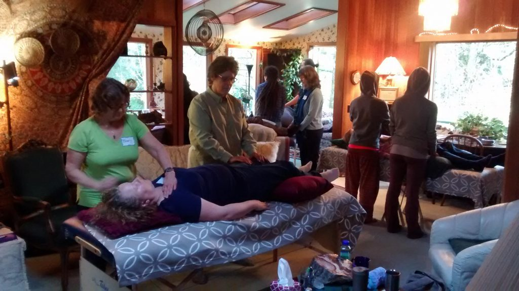 Students Practicing Reiki